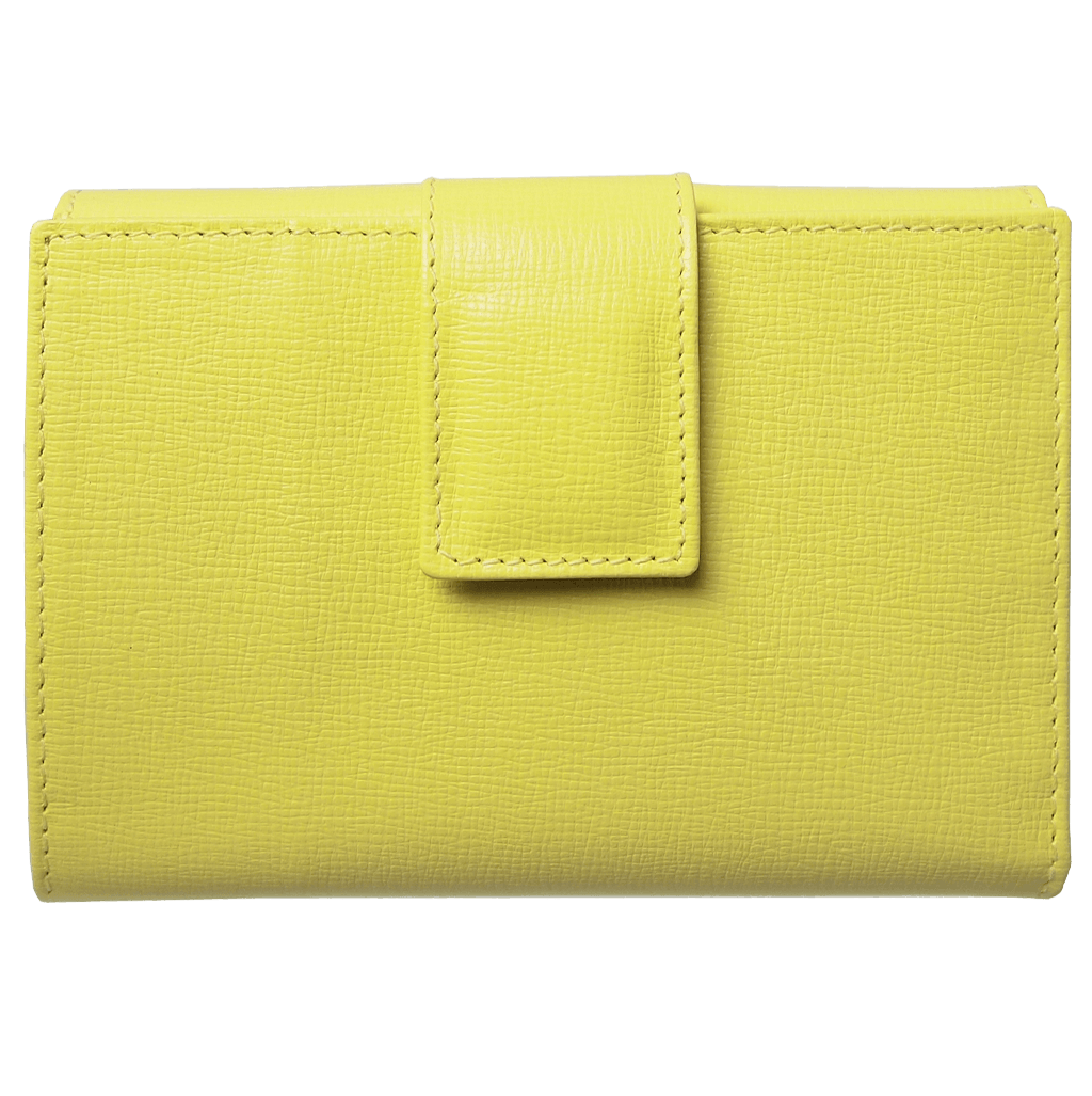 72 Smalldive Womens Wallets 6 Credit Card Saffiano Leather French Wallet Lemon.