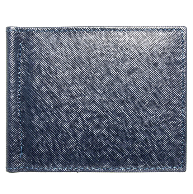 Saffiano Money Clip Wallet Blue-Mens Wallets-72 Smalldive