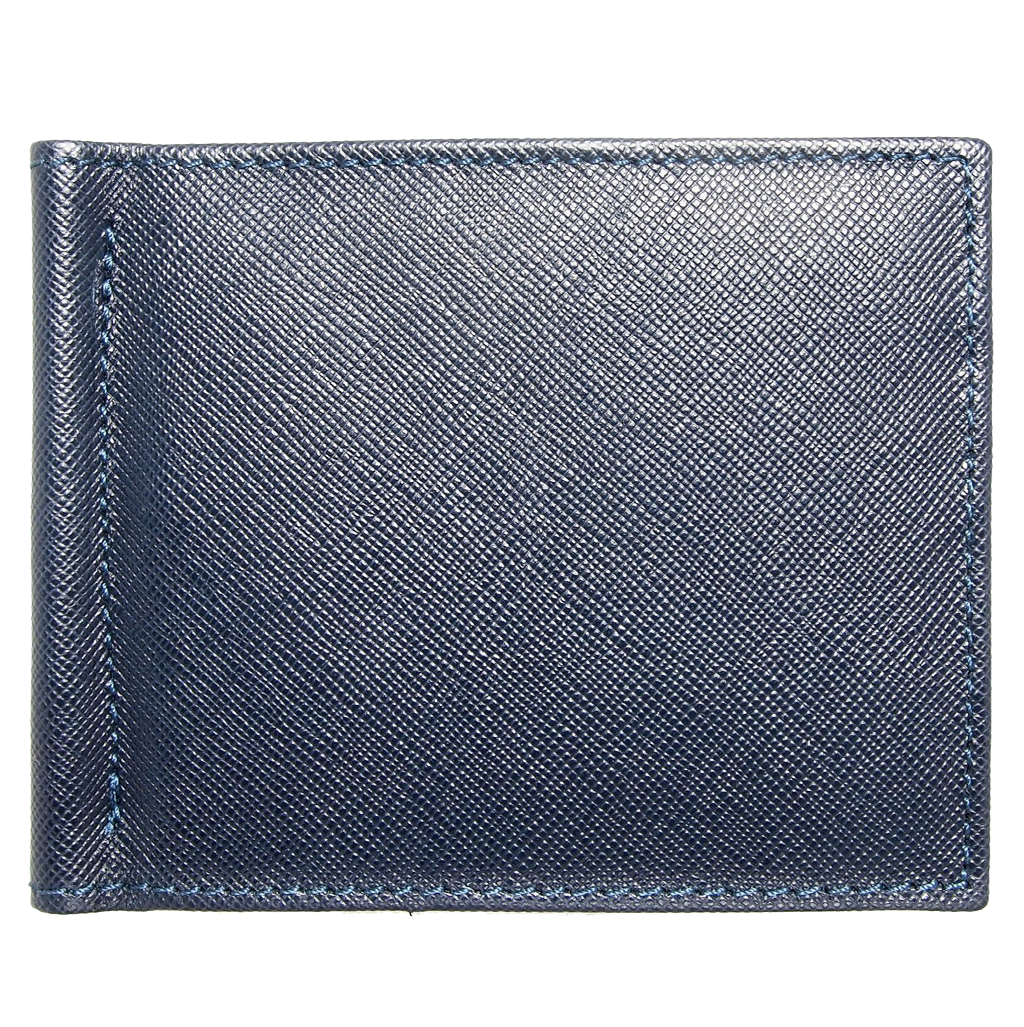 Saffiano Money Clip Blue-Mens Wallets-72 Smalldive