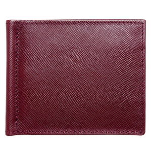 Saffiano Money Clip Wallet Bordeaux-Mens Wallets-72 Smalldive