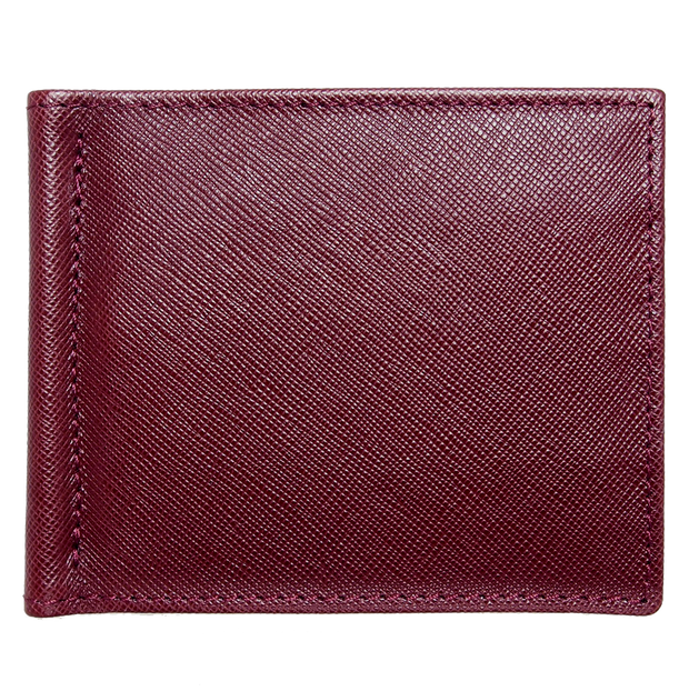 Saffiano Money Clip Bordeaux-Mens Wallets-72 Smalldive