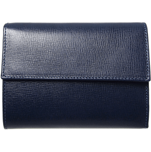 72 Smalldive Womens Wallets 5 Credit Card Saffiano Leather TriFold Wallet Blue.
