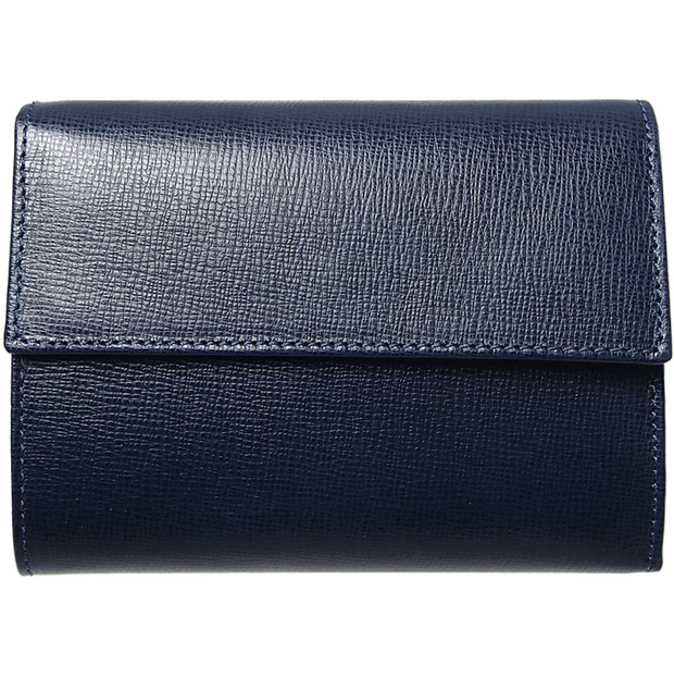 Saffiano Tri Fold Wallet Blue-Womens Wallets-72 Smalldive
