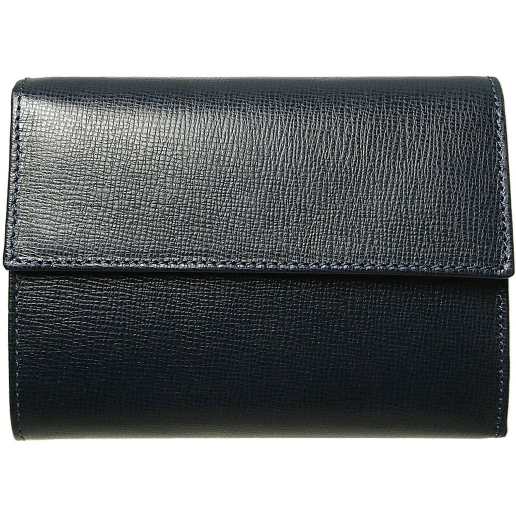 5 Credit Card Saffiano Leather TriFold Wallet Black-Womens Wallets-72 Smalldive