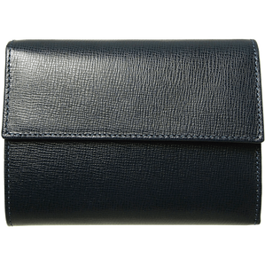 72 Smalldive Womens Wallets 5 Credit Card Saffiano Leather TriFold Wallet Black.