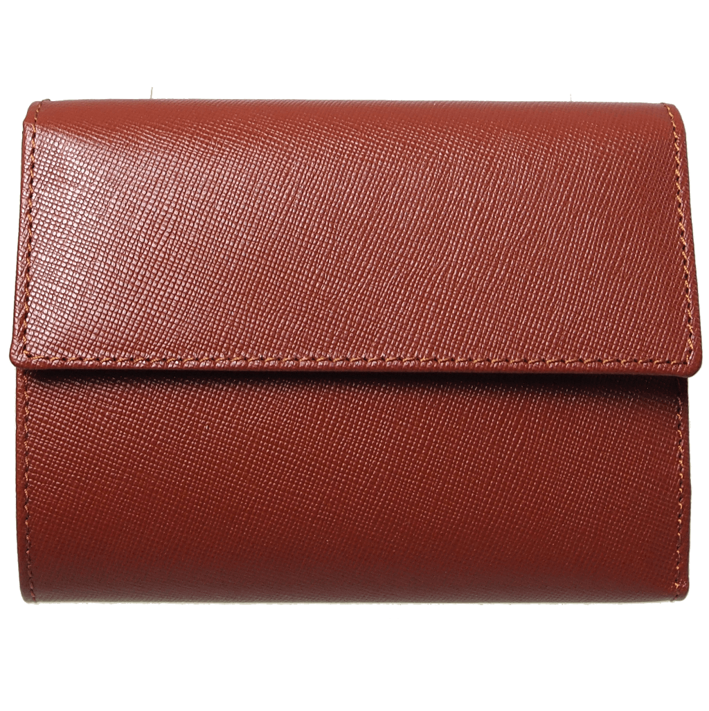 Saffiano Tri Fold Wallet Brown - 72 Smalldive