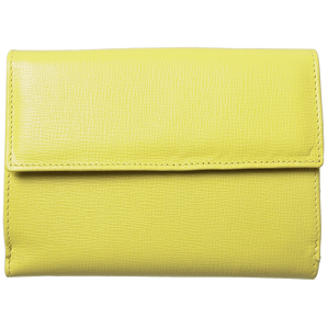 5 Credit Card Saffiano Leather TriFold Wallet Lemon-Womens Wallets-72 Smalldive