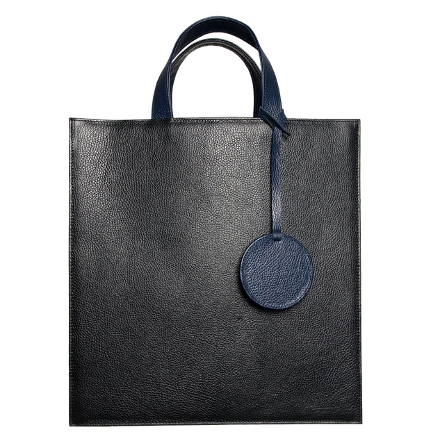 Leather Tote Bag Black-Unisex Bags-72 Smalldive