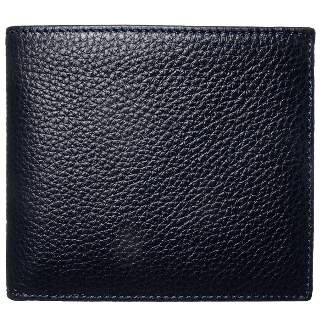 8 Credit Card Small Pebbled Leather Billfold Black-Mens Wallets-72 Smalldive