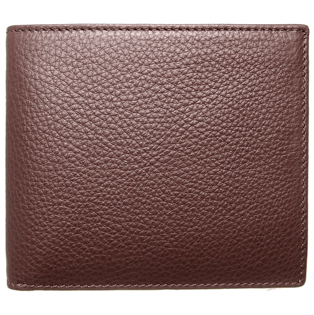8 CC Small Pebbled Calf Leather Billfold Wallet Brown-Mens Wallets-72 Smalldive