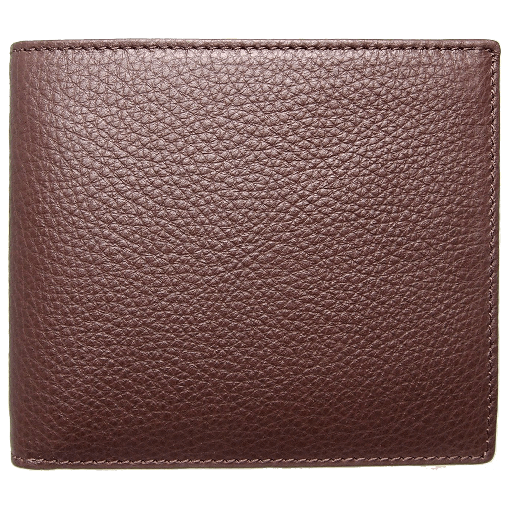 8 Credit Card Small Pebbled Leather Billfold Brown-Mens Wallets-72 Smalldive