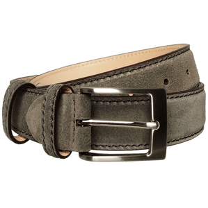 34 mm Lacquered Edge Suede Belt Beaver-Mens Belts-72 Smalldive