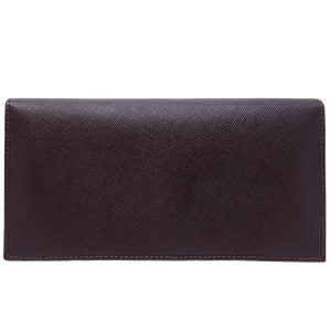 72 Smalldive Unisex Wallets Saffiano Long Envelope Wallet Brown.