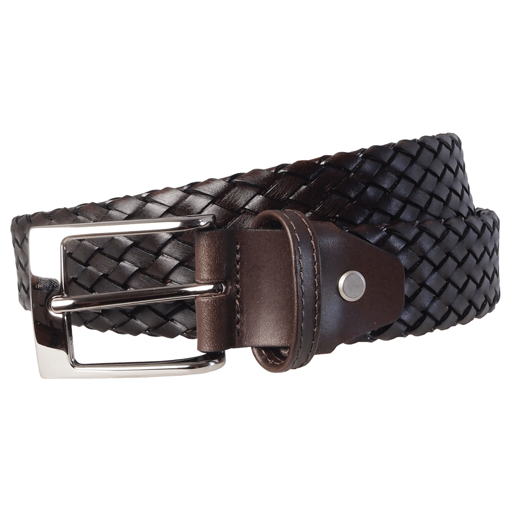 72 Smalldive Mens Belts 34 mm Weave Belt Dark Brown.