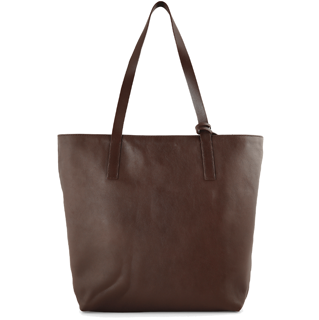 Reversible Buffed Calf Leather Vertical Tote Brown-Bags-72 Smalldive