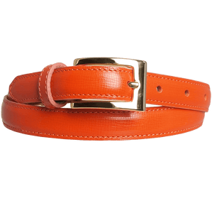 20 mm Saffiano Leather Belt Orange-Womens Belts-72 Smalldive