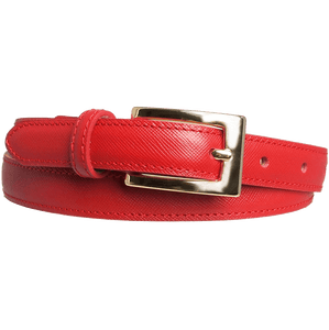 20 mm Saffiano Leather Belt Red-Womens Belts-72 Smalldive