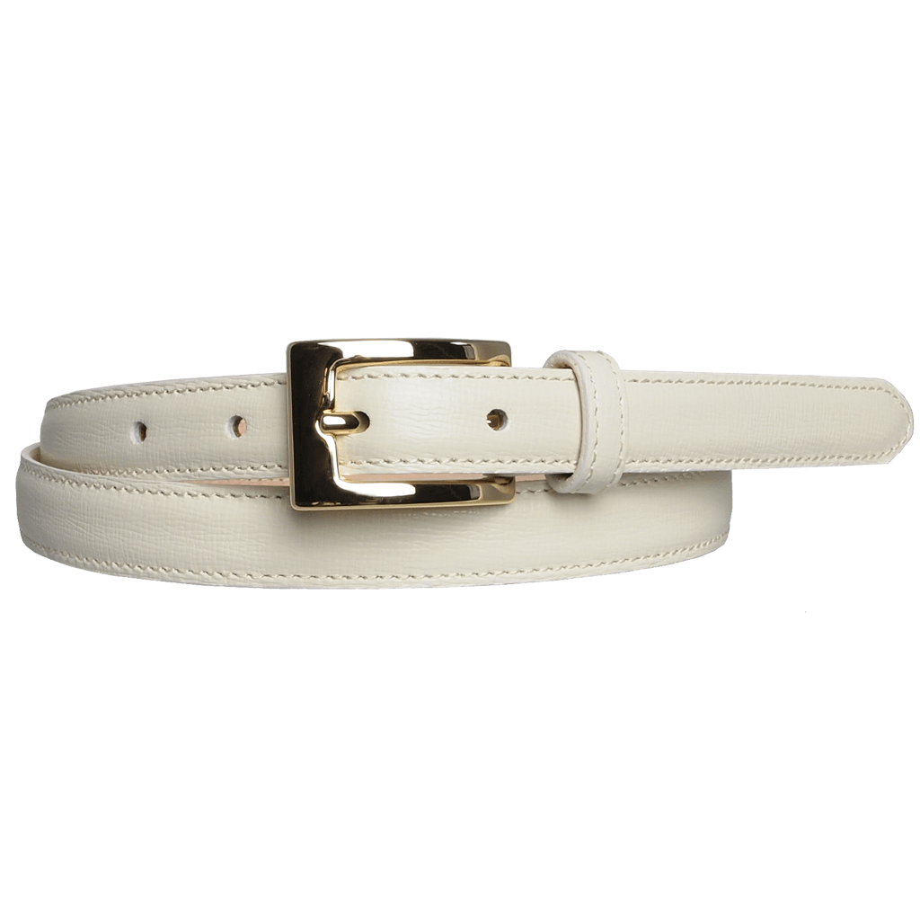 20 mm Saffiano Leather Belt Ivory-Womens Belts-72 Smalldive