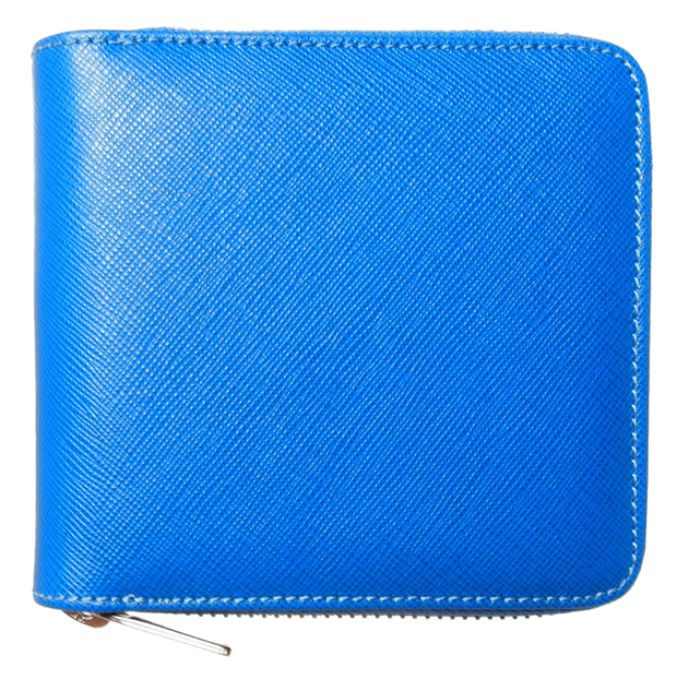 4 CC Saffiano Zip Wallet Sky Blue-Unisex Wallets-72 Smalldive