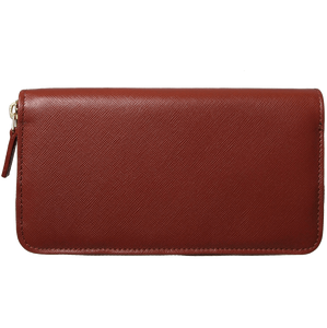 72 Smalldive Unisex Wallets 8 Credit Card Saffiano Zip Around Wallet Brown.