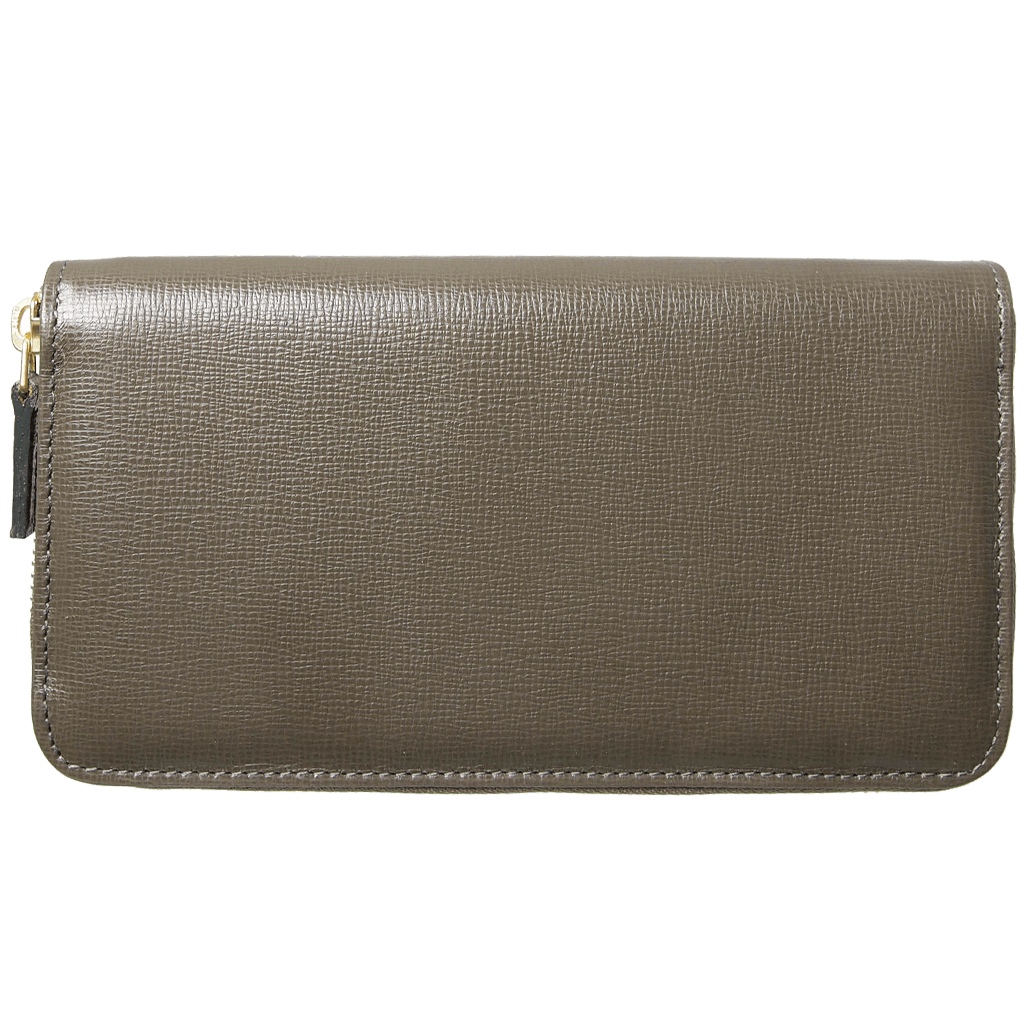 8 CC Saffiano Zip Around Wallet Olive-Unisex Wallets-72 Smalldive
