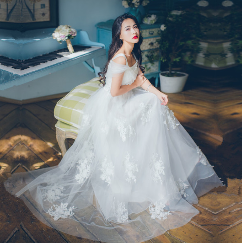 Beach Lace Wedding Dress White Collection 11 – My Lovely Wedding SG