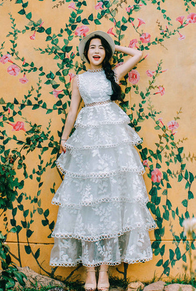 Beach Lace Wedding Dress White Collection 3 – My Lovely Wedding SG