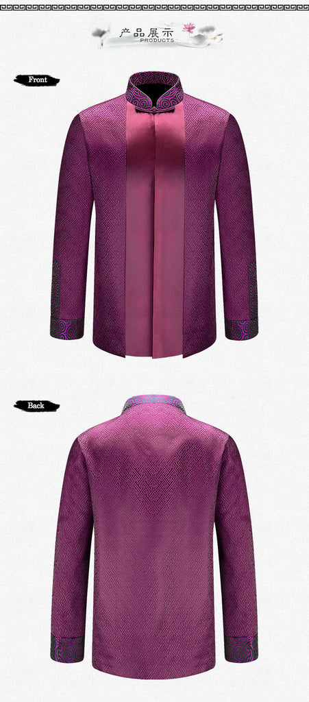 Groom Wedding Silk Jacket (Purple/Brown Colour) Collection 1