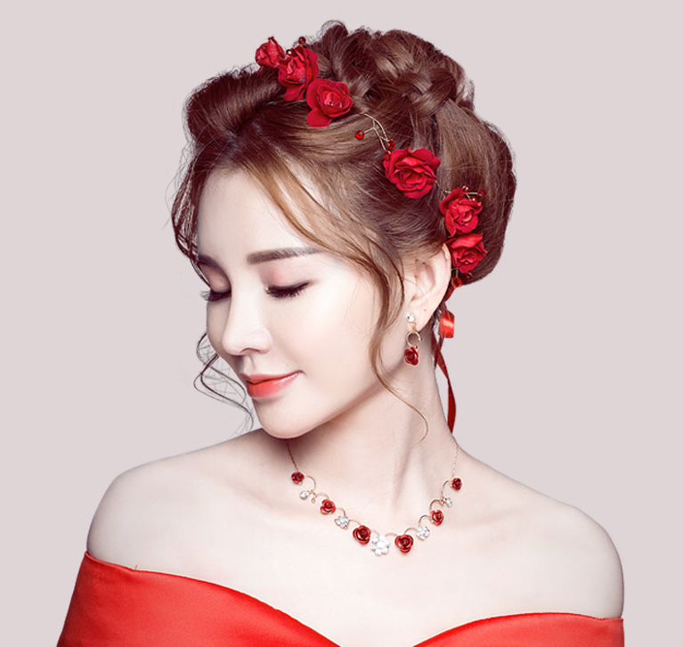 9688a8ddc Wedding Hair Accessories Korean Red – My Lovely Wedding SG