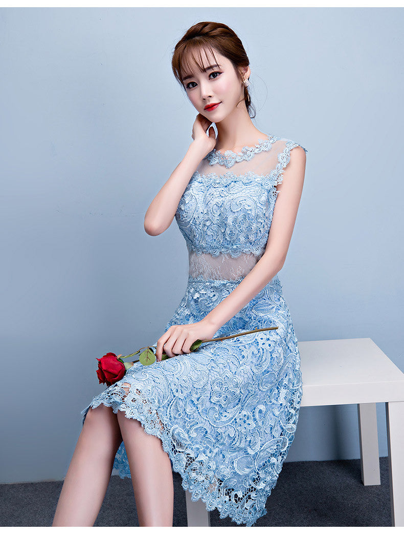 Party Dress Light Blue Lace Dress (rental, mini 2 days) – My Lovely ...