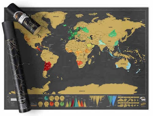 Luckies of London Scratch Map Executive Deluxe Edition