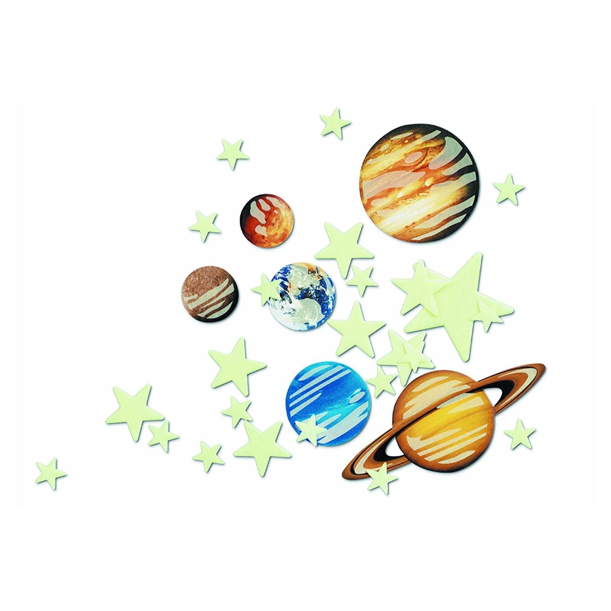 Glow In The Dark Planets & Stars Pack - - 4M - Yellow Octopus