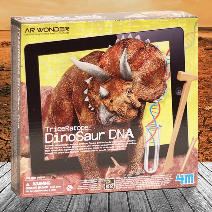 4M 4M Augmented Reality Dinosaur DNA Kit Triceratops