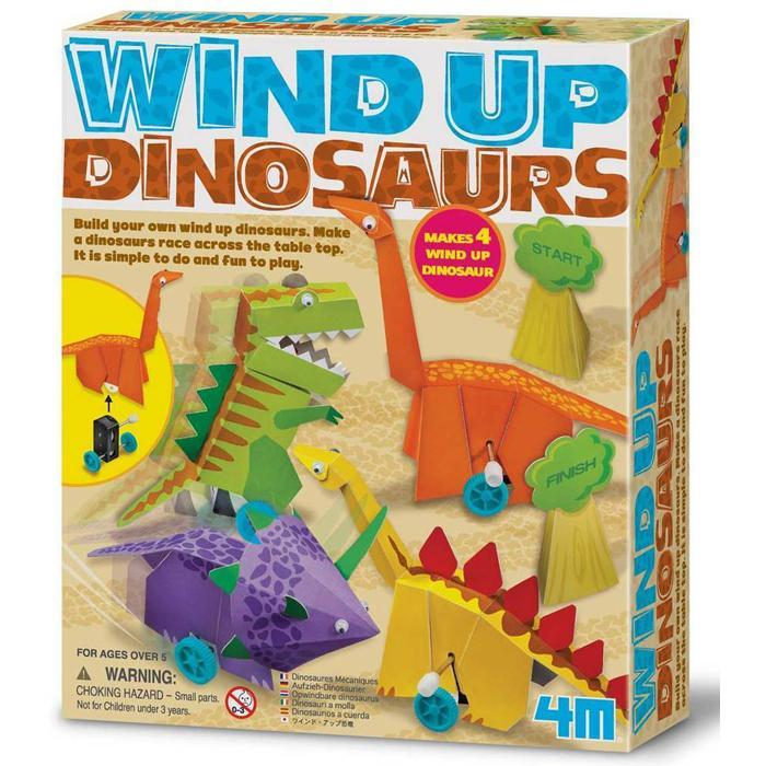 Build Your Own Wind-Up Dinosaurs Kit - - 4M - Yellow Octopus