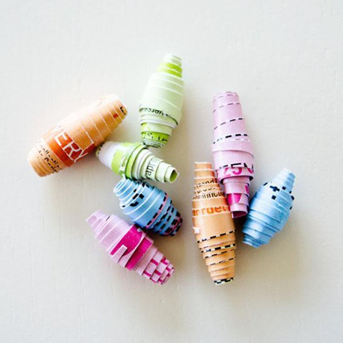 Create Your Own Recycled Paper Beads Kit | 4M - - 4M - Yellow Octopus