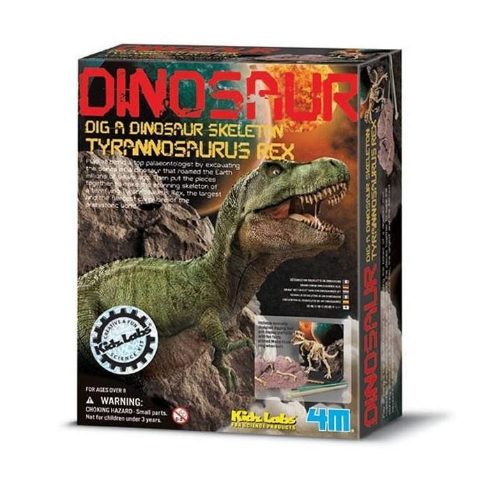 Dig A Dinosaur T-Rex Fossil Kit | 4M - - 4M - Yellow Octopus