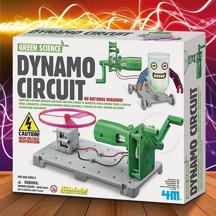 Dynamo Circuit Kit For Kids - - 4M - Yellow Octopus