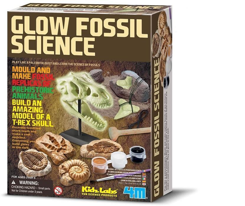 Glow Fossil Dinosaur Science Kit | 4M Kidz Lab - - 4M - Yellow Octopus