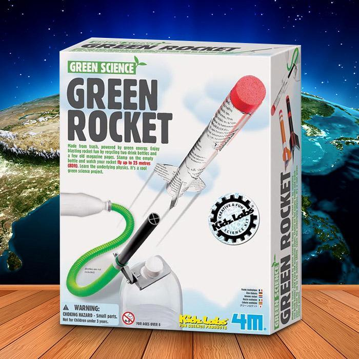 Green Energy Powered Rocket | 4M - - 4M - Yellow Octopus