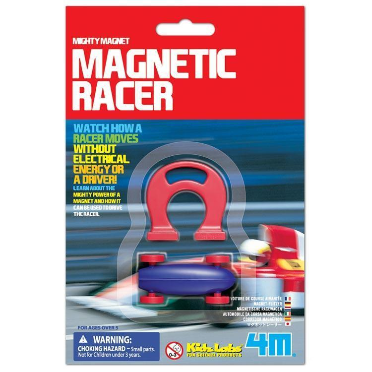 Mighty Magnetic Racer | 4M Kidz - - 4M - Yellow Octopus