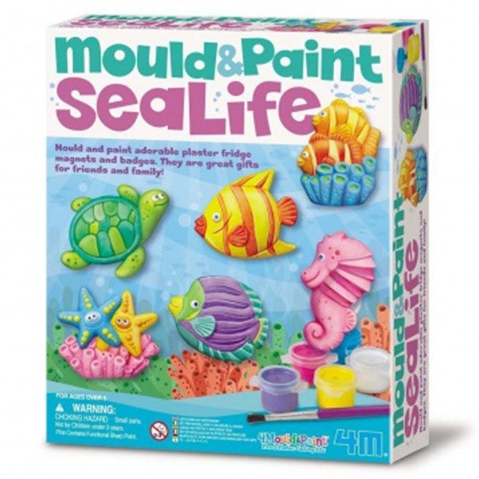 Mould And Paint Sea Life Kit - - 4M - Yellow Octopus