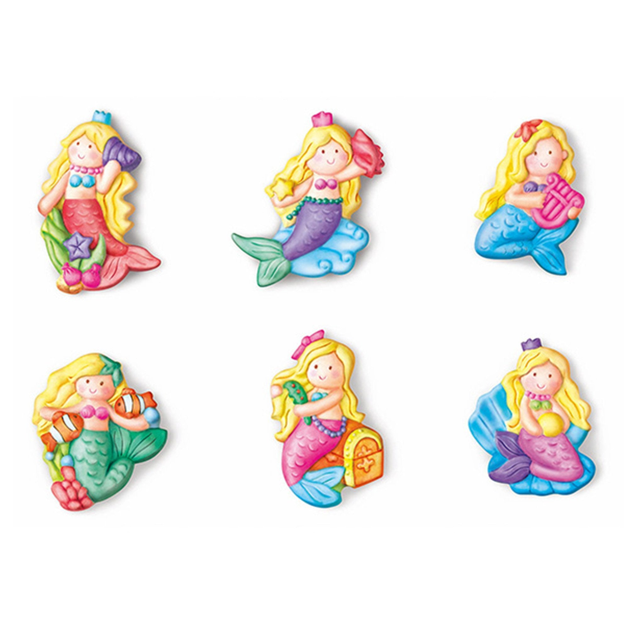 Mould & Paint Glitter Mermaids Casting Kit - - 4M - Yellow Octopus