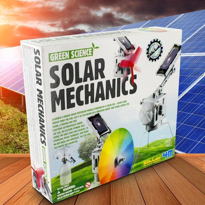 Solar Mechanics Kit For Kids - - 4M - Yellow Octopus