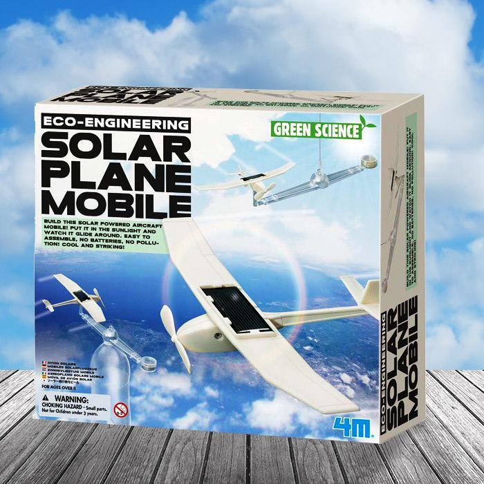 Solar Powered Mobile Spinning Plane Kit - - 4M - Yellow Octopus