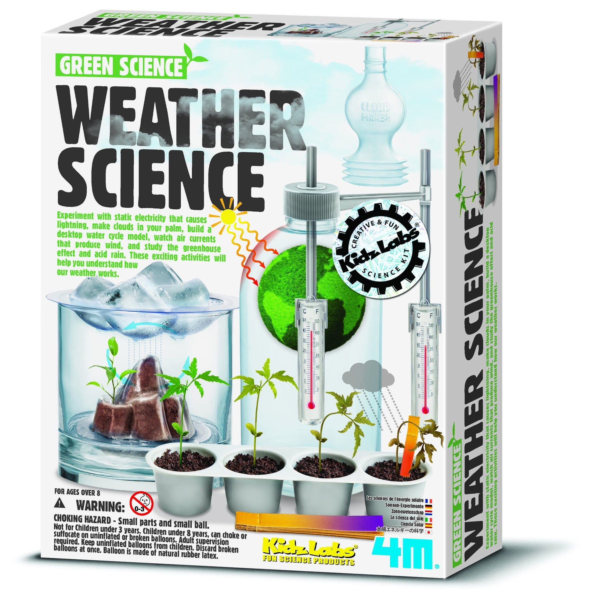 Weather Science Experiments Kit | 4M - - 4M - Yellow Octopus