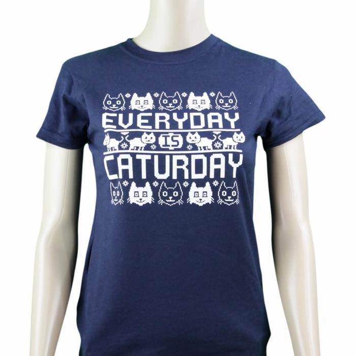 Caturday Ladies T-Shirt - Small - $6 T-Shirts - Yellow Octopus