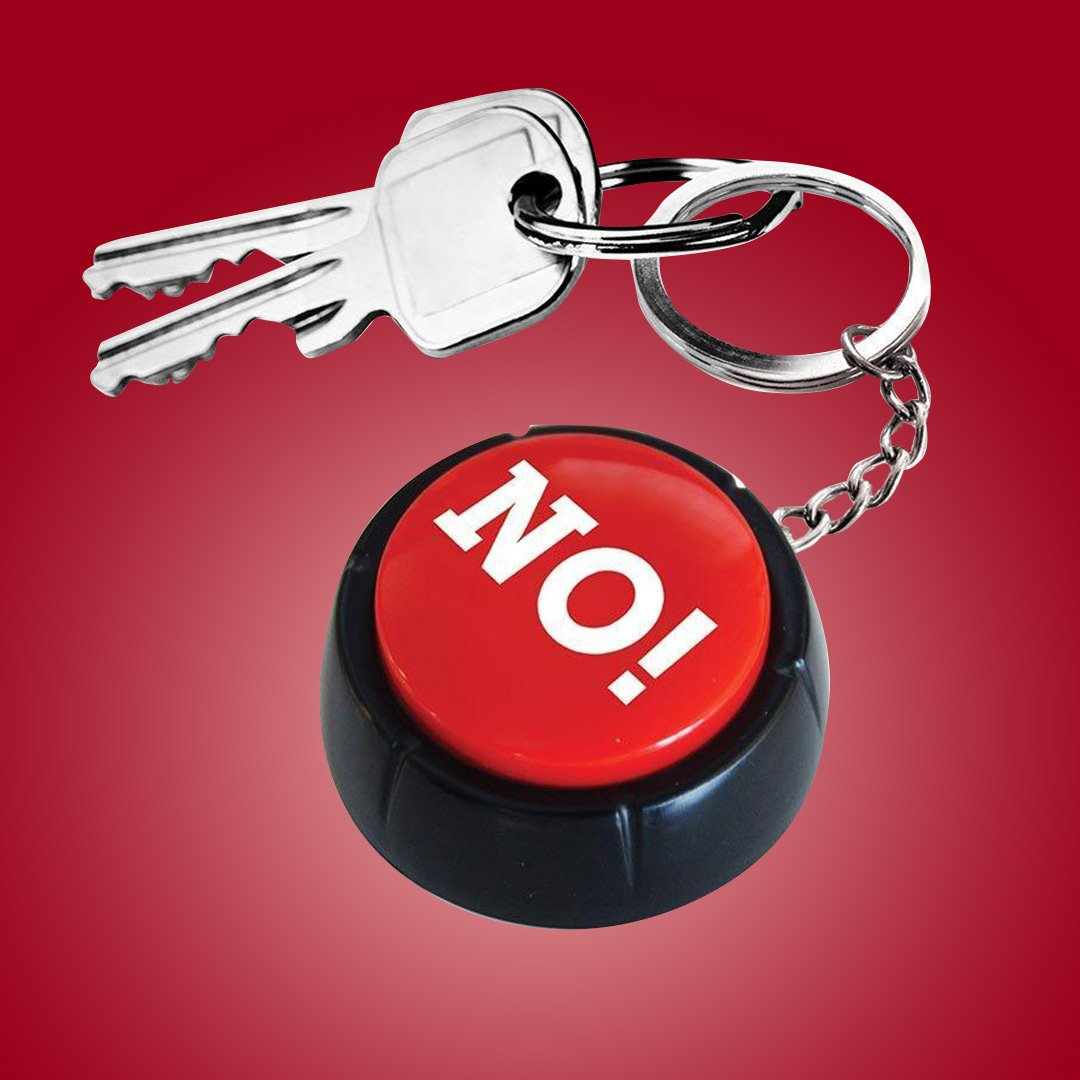 The No Button Sound Effects Keyring