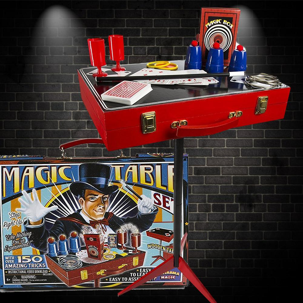 Retro Magic Table Magician's Set with 150 Tricks!