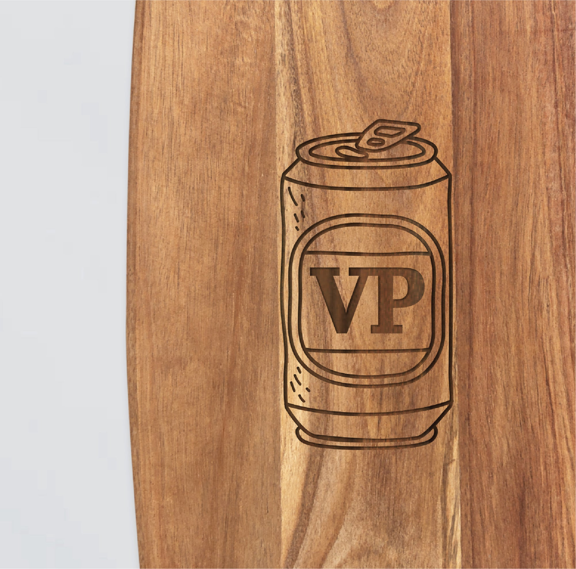 Personalised Acacia Paddle Serving Board - Funny Beer Style