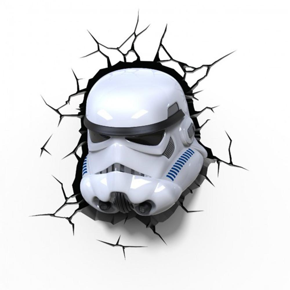 Official Star Wars Stormtrooper Helmet 3d Light Wall Art Yellow